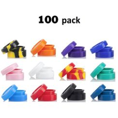 Silicone Wax Containers - 100 Pack